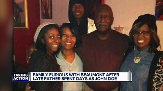 Family furious with Beaumont Hospital after late father spent days as a John Doe