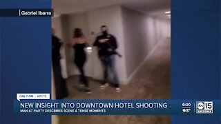 Witness speaks out after shooting at downtown Phoenix hotel
