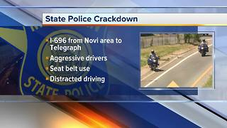 Michigan State Police enforcing aggressive driving crackdown on I-696