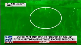 Mirgants Illegally Crossing Rio Grande River Into U.S Scream 'I'm Drowning'