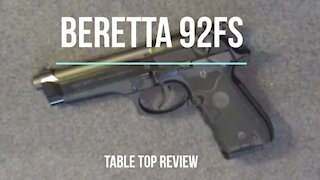 Beretta 92FS Semiautomatic Pistol - Tabletop Review - Episode #202009