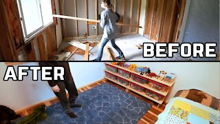 Completely Renovating Kids Bedroom - Before and After - Home Renovation
