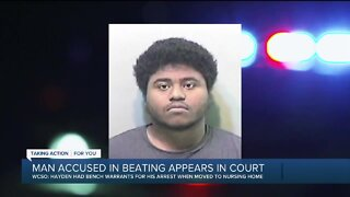 Man accused in beating appears in court