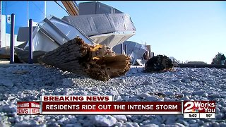 Residents ride out the intense storm