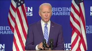 Joe Biden delivers remarks as ballots continue to be counted nationwide
