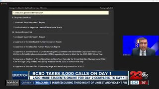 BCSD takes 3,000 calls on first day of school