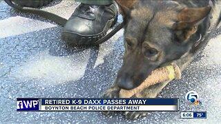 Retired Boynton Beach police K-9 passes away