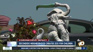 Escondido neighborhood creates zoo for children
