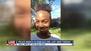 Milwaukee Police looking for critically missing 13-year-old girl