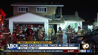 Otay Mesa West home catches fire twice in one day