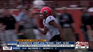 Oklahoma State Football looking for a 6th straight win over Texas, in Austin