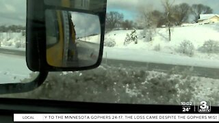 Snow plow drivers deal with the aftermath of storm
