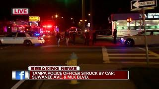 Tampa police officer injured in crash
