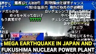 Mega Earthquake in Japan and LIGHT from Fukushima Nuclear power plant.. !