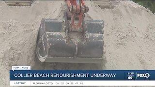 Collier beach renourishment underway