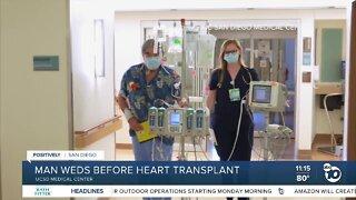 Man weds before heart transplant
