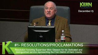 District 1 Supervisor Mick Gleason bids farewell