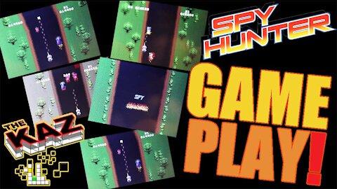 Spy Hunter Video Arcade Game Play