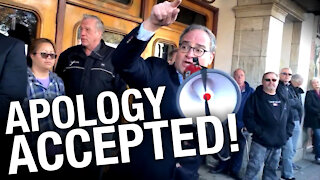 APOLOGY ACCEPTED! We fought deplatforming — and we won against the cancel culture mob!