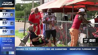 Bucs fans celebrate first home game