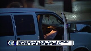 Driver released after new information in crash that killed toddler on I-94