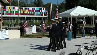 Hillsborough heroes honored by Rotary Club with American flag celebration
