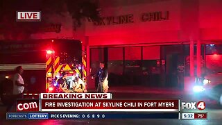 Update: Fire sparks at Skyline Chili in Fort Myers