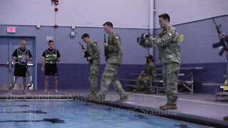 Army Best Medic Competition Combat Water Survival Test