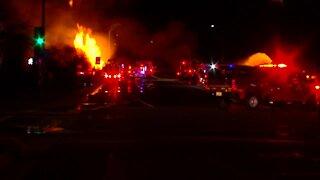 Phoenix gas line fire near 7th Street and University
