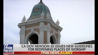 California governor issues guidelines for reopening churches after backlash