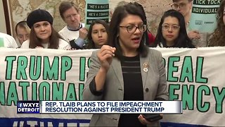 Tlaib rallies with Democratic colleagues in call for impeachment of President Trump