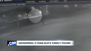 Wandering 2-year-old found by Uber driver