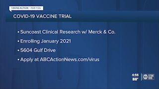 Tampa Bay COVID-19 patients can sign up for vaccine trial