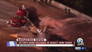Semi driver identified after deadly wreck on I-95 in Boynton Beach