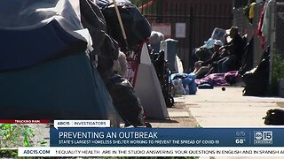 How will Arizona manage a COVID-19 outbreak in homeless encampments?