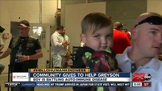 Community comes together to help boy battling cancer