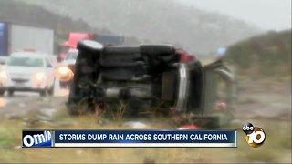 Storm dump rain across southern California
