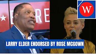 Larry Elder Endorsed By Rose McGowan in California Recall Election