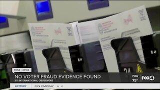 No voter fraud found by international observer