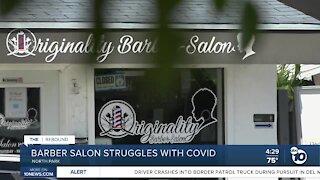 Barber salon struggles with COVID