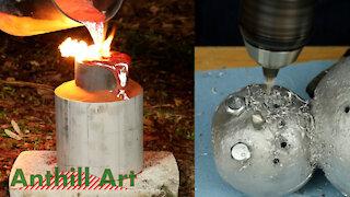 Making an Aluminum Snowman