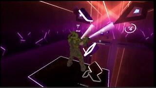 Doom Guy Plays EXPERT One Saber Origins in Beat Saber!