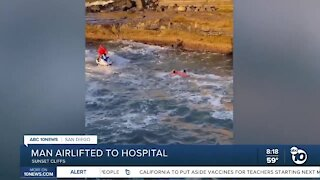 Man rescued after jumping into ocean from Sunset Cliffs