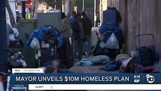 San Diego Mayor unveils $10M homeless plan