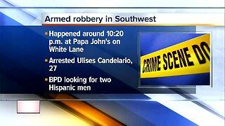 Police arrest suspect in Papa John's armed robbery