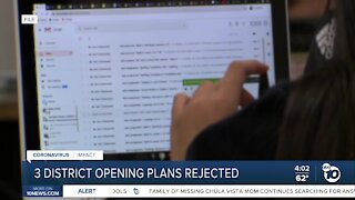 3 North County district reopening plans rejected