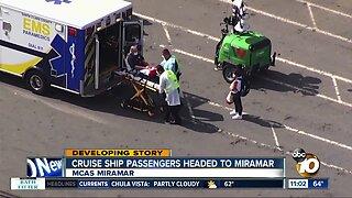 Cruise ship passengers headed to Miramar MCAS