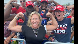 Marjorie Taylor Greene RIPS Biden, Maxine Waters & Fauci At Trump Rally in Ohio