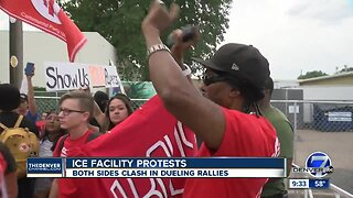 ICE protesters, supporters rally in Aurora