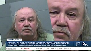 Welch suspect sentenced to 10 years in prison